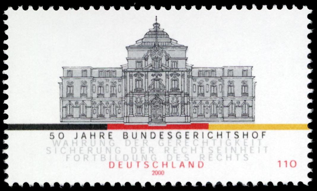 Stamp_Germany_2000_MiNr2137_Bundesgerichtshof